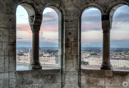 neo-romanesque window view